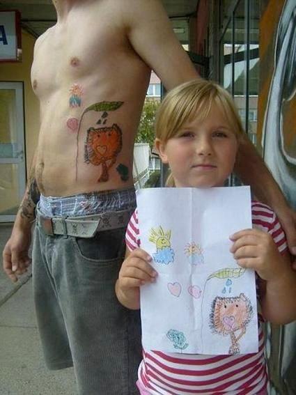 татуировка детский рисунок