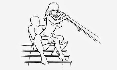 Картинки на тему сексуальные позиции. Как приятно заниматься сексом на лестнице в собственном доме! Поробуй, если еще не пробовал.
