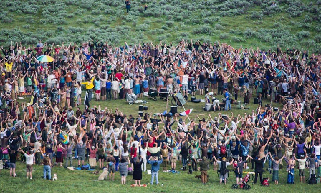 хиппи, комунна, фото, Rainbow gathering