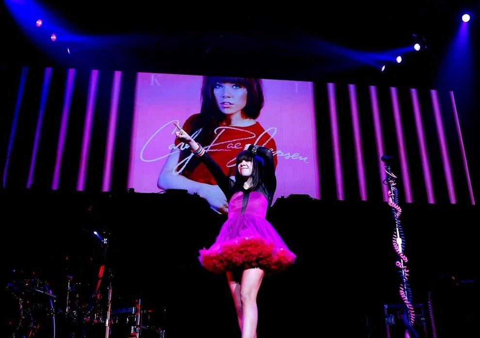 Канадская певица Карли Рэй Джепсен (Carly Rae Jepsen) выступает на сцене «MGM Грэнд Гарден Арена» в Лас-Вегасе, штат Невада, США.